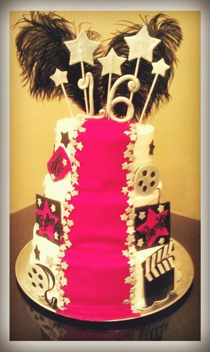 Sweet 16 Red Carpet Cake Amy S Custom Cakes Etc