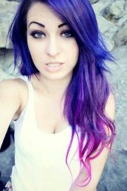 blue purple pink ombre hair