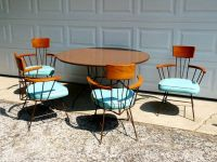 Mid century modern dining table and chairs | Table and ...