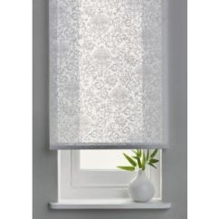 Window Blinds For Living Room Covers Furniture Buy 4ft Swirl Semi Privacy Roller Blind - White At ...