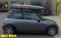 Mini Cooper with SunRoof  Thule Custom Track Installation