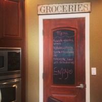 DIY chalkboard pantry door | kitchen remodel | Pinterest ...