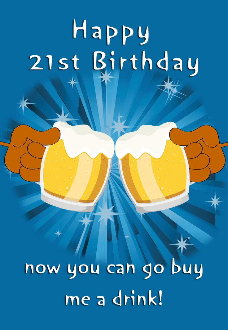 free printable 21st birthday cards