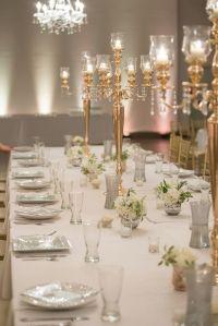 Gold Candelabra Dining Table Centerpieces | Hafner Florist ...