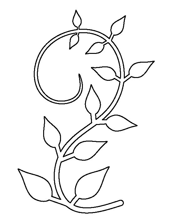 Vine pattern. Use the printable outline for crafts