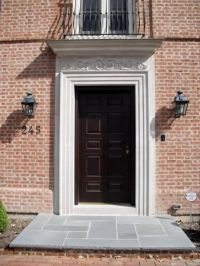 Indiana Limestone door surround with hand carved lintel by ...