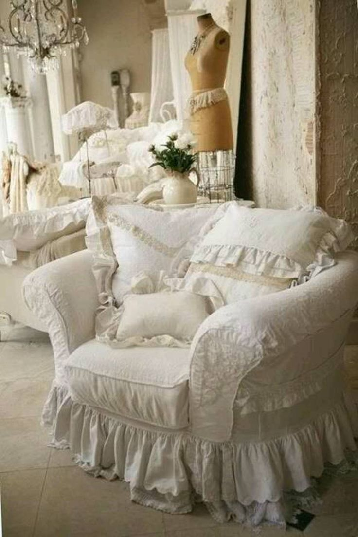 slipcover for chair and a half cheap living room shabby chic recliner - google search | pinterest chic, ruffles