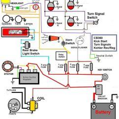Yamaha Xs650 Bobber Wiring Diagram Nissan Almera Tino Stereo Honda Cb350 Simple - Google Search | Useful ...