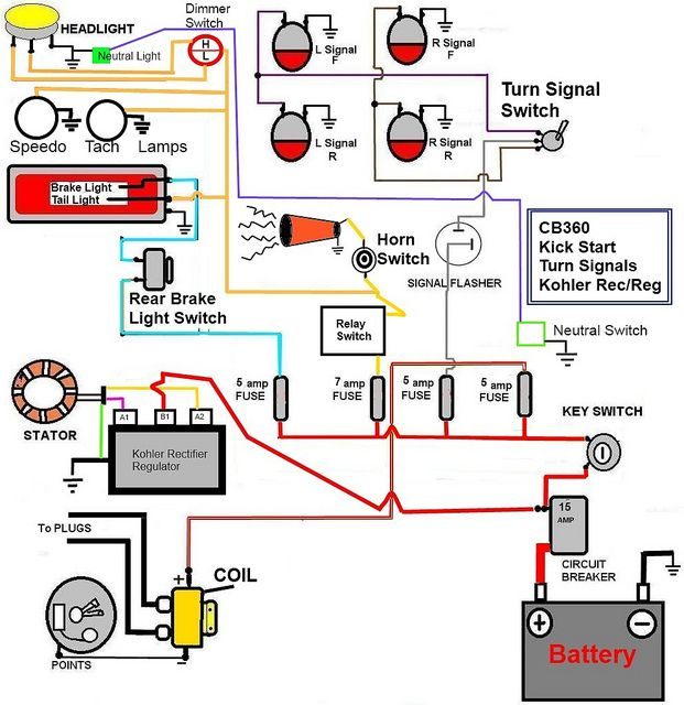 chinese 6 pin cdi wiring diagram 4 connector honda cb350 simple - google search | useful information for motorcycles ...