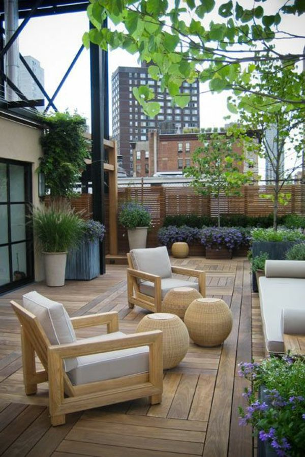 terrassenbelag holz garten terrasse bambus balkon sichtschutz, Gartengerate ideen
