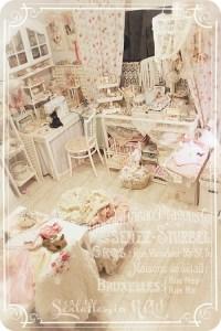 Amazing shabby chic craft room / studio in creams and ...