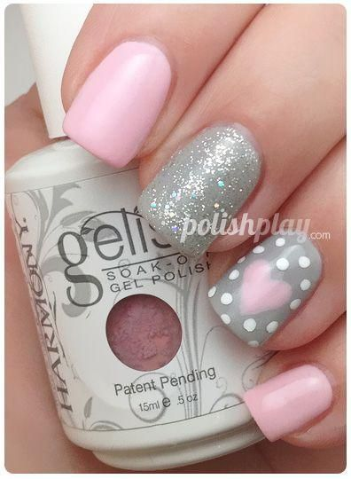 Gelish-manicure-with-pink-smoothie-