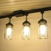 "Hanging ""regular"" ceiling lights from track lighting ..."