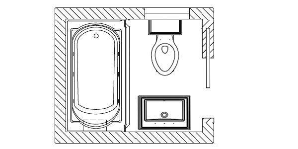 17 Best ideas about Small Bathroom Floor Plans on