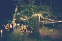 backyard // string lights