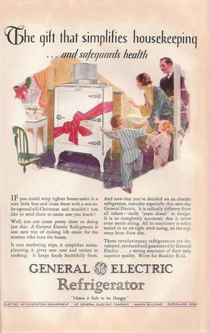 classic kitchen sink purple rugs 1928 ge refrigerator ad | 1920's advertisements ...