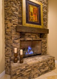 Stacked Rock Fireplace | Dream Home | Pinterest | In the ...