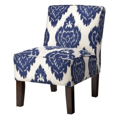 Slipper Chair  Abstract Blue Floral 14999 Target  grey