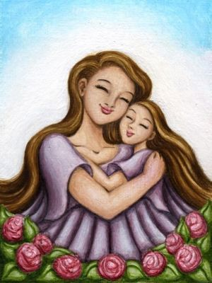 daughter mother quotes hug mom daughters mothers drawing child mermaid reaney hiroko breanna illustrations artist happy children national