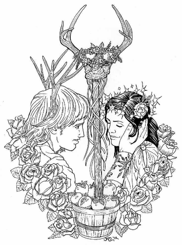 Goddess Adult Coloring Page