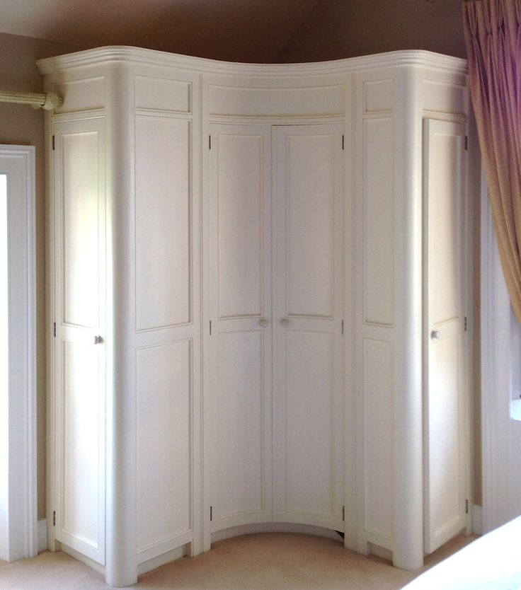 kitchen pantry cupboard cabinet handles and knobs curved fitted corner wardrobe hand painted in a cream www ...