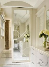 sliding door with mirror and fretwork | Interiors ...