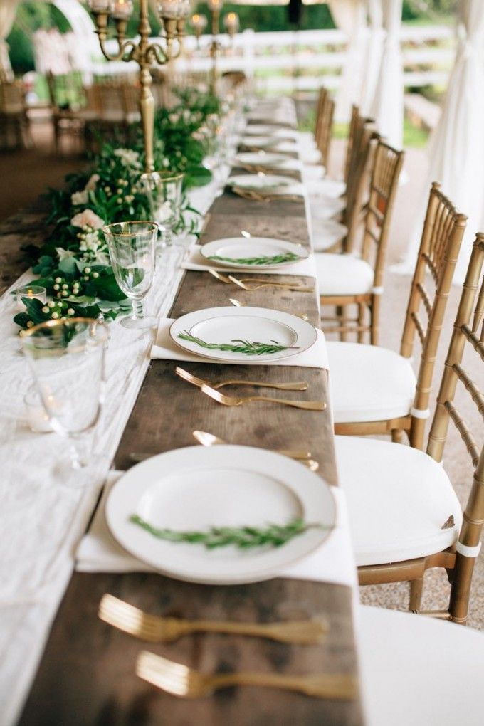 25+ best ideas about Wedding table settings on Pinterest