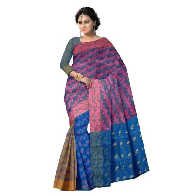 Image result for jamdani saree from west bengal