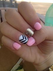 pretty and cute pink nails