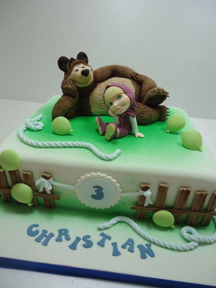 Masha and the bear  cake  Pinterest  The bear Masha