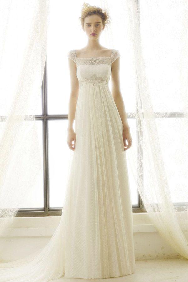 Die 25 Besten Ideen Zu Brautkleider Im Empire Stil Auf Pinterest