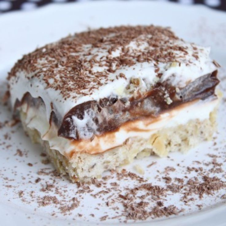 Robert Redford Cake – I remember having this dessert as a kid. The crust is kind of like shortbread cookies.