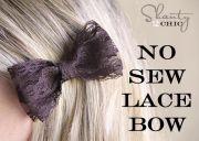 diy sew lace bow hair clip