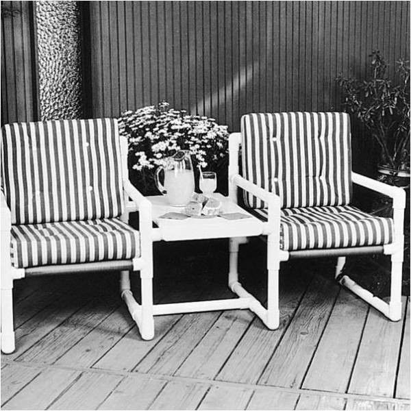 lawn chair with shade pier one imports slipcovers pvc outdoor patio furniture plans - woodworking projects &