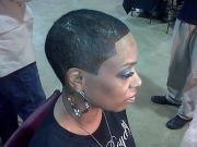 short black barber cuts women