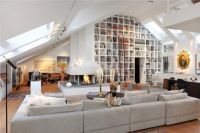 Vaulted ceiling. Built-in bookcases. | Books | Pinterest ...
