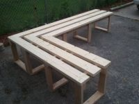 Outdoor Corner Bench - WoodWorking Projects & Plans