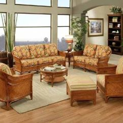Living Room Swivel Glider Chairs Cafe Rome Mahalo Rattan And Wicker Sunroom Group From ...