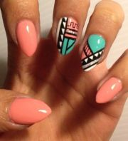 customized aztec press nails