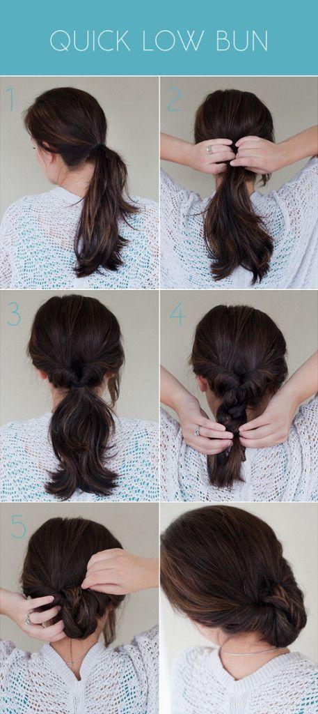 25 best ideas about Easy Low Bun on Pinterest  Low updo Low bun tutorials and Low chignon