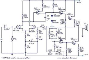 100wsubwooferamplifiercircuit | AMPLIFIER | Pinterest