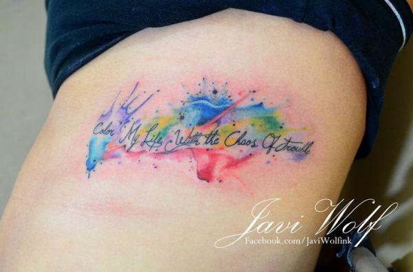 tattooed javi wolf tattoo