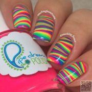ideas striped nail
