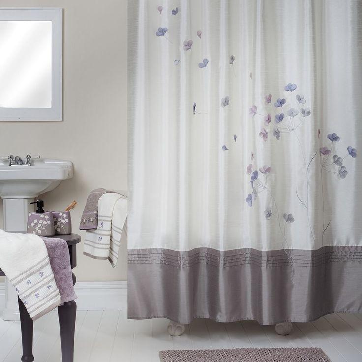 Lush Decor Flower Drop Fabric Shower Curtain  Home LUSH