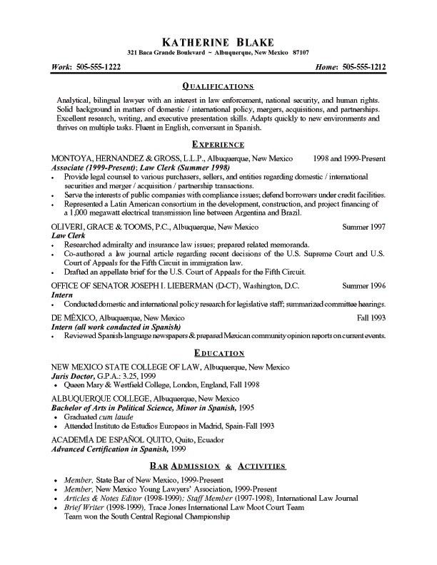 resume templates national security