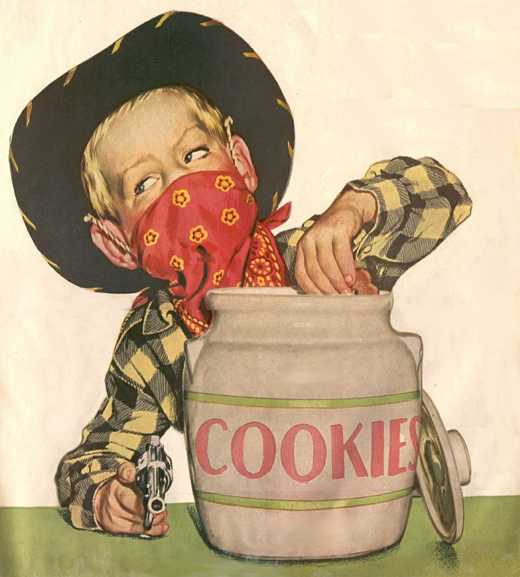 Little Cowboy Attributed To Norman Rockwell By Previous