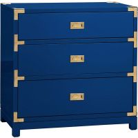 Bungalow 5 Victoria 3-Drawer Blue Side Table ($1,568 ...