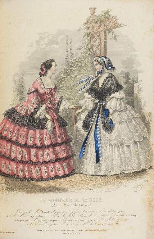 September 1857  Le Moniteur de la Mode  FashionPlates 18501859  Pinterest  Day dresses