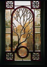 Contemporary Stained Glass | landing window in a ...
