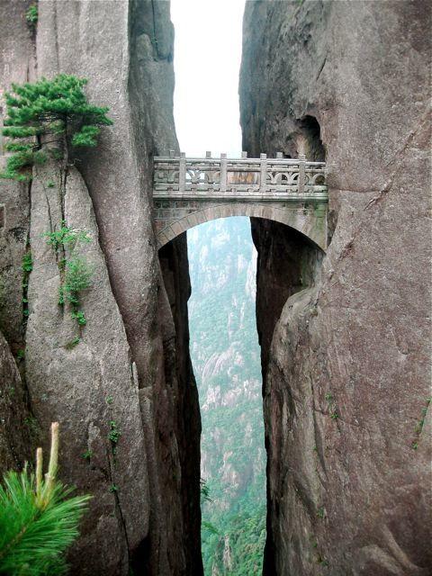 The Bridge of Immortals, Huanghsan, China.